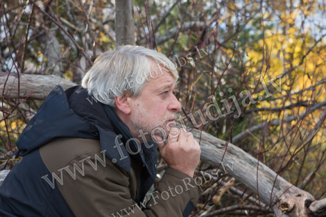 Middle-aged man in forest
