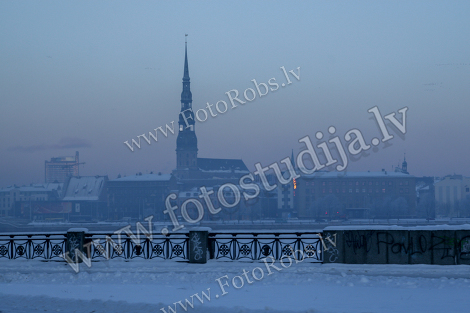 Riga view in winter