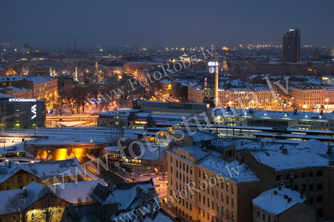 The view of Riga on winter