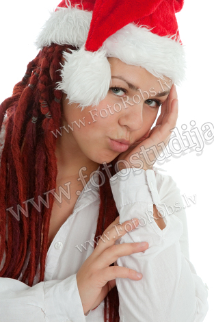 Portrait of young modern christmas girl