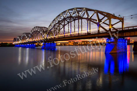 The Riga railway bridge
